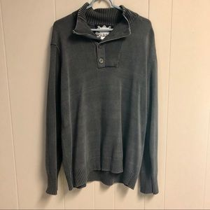 Other - Gray Cotton Quarter Zip Sweater